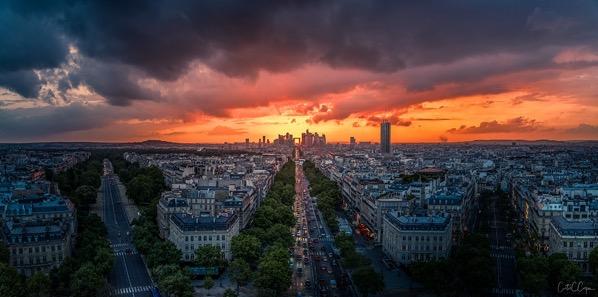 Paris arc sunset 2